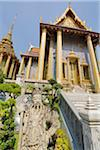 Statue in front of Prasat Phra Thep Bidon, Grand Palace, Bangkok, Thailand Stock Photo - Premium Rights-Managed, Artist: J. A. Kraulis, Code: 700-03849735