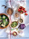 Salad in Bowl with Variety of Toppings Stock Photo - Premium Rights-Managed, Artist: Yvonne Duivenvoorden, Code: 700-03849766