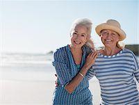 Senior women on beach Stock Photo - Premium Royalty-Freenull, Code: 635-03859816