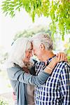 Senior couple hugging under tree Stock Photo - Premium Royalty-Freenull, Code: 635-03859881