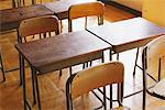 Desk In Empty Classroom Stock Photo - Premium Rights-Managed, Artist: Aflo Relax, Code: 859-03860740