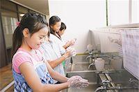 Children Washing Hands Stock Photo - Premium Rights-Managednull, Code: 859-03860930