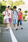 Children With School Bag Walking In Street Stock Photo - Premium Rights-Managed, Artist: Aflo Relax, Code: 859-03860952