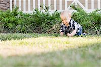 Baby Crawling on Lawn Stock Photo - Premium Rights-Managednull, Code: 700-03865382