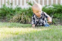 Baby on Lawn Stock Photo - Premium Rights-Managednull, Code: 700-03865383