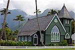 Episcopal Church, Hanalei, Kauai, USA Stock Photo - Premium Rights-Managed, Artist: Ed Gifford, Code: 700-03865685