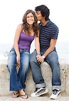 A young couple hugging, Portugal. Stock Photo - Premium Royalty-Freenull, Code: 6102-03867367