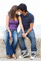 A young couple hugging, Portugal. Stock Photo - Premium Royalty-Freenull, Code: 6102-03867368