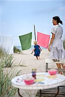 Mother and daughter on  the beach, Oland, Sweden. Stock Photo - Premium Royalty-Freenull, Code: 6102-03867407
