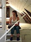 A young woman renovating, Sweden. Stock Photo - Premium Royalty-Free, Artist: Ikon Images, Code: 6102-03867640
