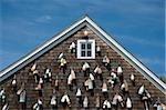 Painted wooden buoys on a shingled building in Sag Harbor, Long Island, New York State, United States of America, North America Stock Photo - Premium Rights-Managed, Artist: Robert Harding Images, Code: 841-03867877