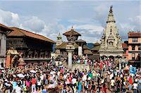 Sa-Paru Gaijatra Festival, Durbar Square, Bhaktapur, UNESCO World Heritage Site, Bagmati, Central Region, Nepal, Asia Stock Photo - Premium Rights-Managednull, Code: 841-03868874