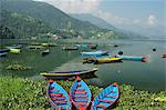 Phewa Tal (Phewa Lake), Pokhara, Gandaki, Western Region (Pashchimanchal), Nepal, Asia Stock Photo - Premium Rights-Managed, Artist: Robert Harding Images, Code: 841-03868893