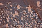 Petroglyphs on Newspaper Rock, Newspaper Rock Recreation Area, Utah, United States of America, North America