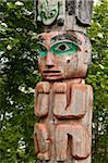 Totem at Cheif Shakes Tribal House, historic site, Wrangell, Southeast Alaska, Alaska, United States of America, North America Stock Photo - Premium Rights-Managed, Artist: Robert Harding Images, Code: 841-03869828