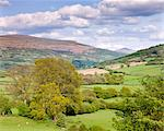 Rolling countryside near Bwlch with views to Sugar Loaf mountain, Brecon Beacons National Park, Powys, Wales, United Kingdom, Europe