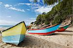 Fishing boats on beach, Tofo, Inhambane, Mozambique, Africa Stock Photo - Premium Rights-Managed, Artist: Robert Harding Images, Code: 841-03870123