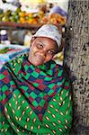 Woman vendor at market, Inhambane, Mozambique, Africa