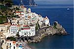 View of Amalfi from the coast, Amalfi Coast, UNESCO World Heritage Site, Campania, Italy, Europe Stock Photo - Premium Rights-Managed, Artist: Robert Harding Images, Code: 841-03870757