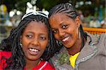Two happy girls, Lake Tana, Ethiopia, Africa