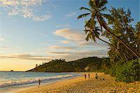 seychelles - Beach Anse Intendance at sunset, Mahe, Seychelles, Indian Ocean, Africa Stock Photo - Premium Rights-Managednull, Code: 841-03871154
