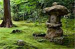 A rugged stone lantern accents a moss garden at Sanzenin Temple in Ohara, Kyoto, Japan, Asia Stock Photo - Premium Rights-Managed, Artist: Robert Harding Images, Code: 841-03871354