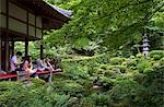 Visitors relaxing at a Zen meditation garden at Sanzenin Temple in Ohara, Kyoto, Japan, Asia Stock Photo - Premium Rights-Managed, Artist: Robert Harding Images, Code: 841-03871355