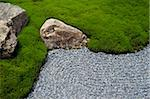 Carefully manicured moss highlights a rock garden at Sanzenin Temple in Ohara, Kyoto, Japan, Asia Stock Photo - Premium Rights-Managed, Artist: Robert Harding Images, Code: 841-03871358
