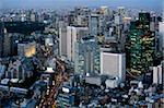 Aerial view of metropolitan Tokyo at dusk from atop the Mori Tower at Roppongi Hills, Tokyo, Japan, Asia Stock Photo - Premium Rights-Managed, Artist: Robert Harding Images, Code: 841-03871375