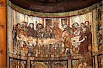 Painting of the Last Supper on walls of Gol 13th century Stavkirke (Wooden Stave Church), Norsk Folkemuseum (Folk Museum), Bygdoy, Oslo, Norway, Scandinavia, Europe Stock Photo - Premium Rights-Managed, Artist: Robert Harding Images, Code: 841-03871699