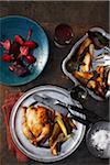 Roast Chicken, Beets and Vegetables Stock Photo - Premium Rights-Managed, Artist: John Cullen, Code: 700-03874620