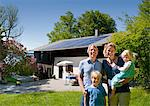 Family at home with solar panel Stock Photo - Premium Royalty-Free, Artist: ableimages, Code: 649-03883523
