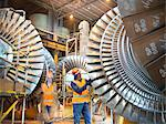 Workers with turbines in power station Stock Photo - Premium Royalty-Free, Artist: Cultura RM               , Code: 649-03883735