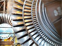 Turbines in power station Stock Photo - Premium Royalty-Freenull, Code: 649-03883737