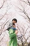 Father Carrying Son On Shoulders Stock Photo - Premium Rights-Managed, Artist: Aflo Relax, Code: 859-03885004