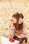 Japanese Women Smelling Red Cherry Stock Photo - Premium Rights-Managed, Artist: Aflo Relax, Code: 859-03885429