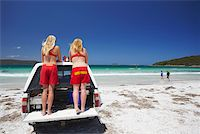 Lifeguards on Middleton Beach, Albany, Western Australia, Australia Stock Photo - Premium Rights-Managednull, Code: 862-03887199