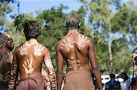 queensland - Australia, Queensland, Laura.  Indigenous dancers with handprint decorations on back. Stock Photo - Premium Rights-Managednull, Code: 862-03887278