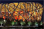 Exterior of the Olympic Stadium, Datun, Beijing, China by night Stock Photo - Premium Rights-Managed, Artist: AWL Images, Code: 862-03887506