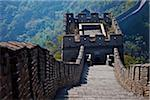 Watchtower on the Mutianyu section of the Great Wall of China, Mutianyu, Jiaojiehe, Beijing, China. Stock Photo - Premium Rights-Managed, Artist: AWL Images, Code: 862-03887509