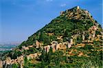 Greece, Peloponnese, Laconia, Mystras (aka Mystra). One-time capital of the Despotate of Morea, a province of the Byzantine empire, citadel-topped Mystras remains one of Greece's most evocative ruined cities.