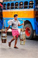 Streets of Kolkata. India Stock Photo - Premium Rights-Managednull, Code: 862-03888431