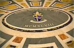 Rome, Italy; Detail of coat of arms with ornamental tiles on the floor of St.Peter's Basilica Stock Photo - Premium Rights-Managed, Artist: AWL Images, Code: 862-03888646