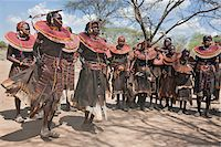 Pokot women and girls dancing to celebrate an Atelo ceremony. The Pokot are pastoralists speaking a Southern Nilotic language. Stock Photo - Premium Rights-Managednull, Code: 862-03888695