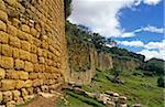 Peru, Amazonas Region, Chachapoyas Province, Kuelap. The remote and mysterious fortress of Kuelap, a once important centre of the Chachapoyans - or 'People of the Clouds' - still boasts enormous walls that encircle the hilltop site deep in the Peruvian cloud forest. Stock Photo - Premium Rights-Managed, Artist: AWL Images, Code: 862-03888976
