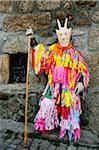 Traditional masks and carnival at Lazarim, Beira Alta, Portugal