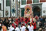Procession of the Holy Christ festivities at Ponta Delgada. Sao Miguel, Azores islands, Portugal