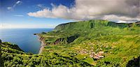 flores - The little village of Fajazinha. The westernmost location in Europe. Flores, Azores islands, Portugal Stock Photo - Premium Rights-Managednull, Code: 862-03889277