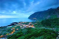 flores - The little village of Faja Grande at night. The westernmost location in Europe. Flores, Azores islands, Portugal Stock Photo - Premium Rights-Managednull, Code: 862-03889291
