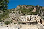Masks and Rock Tombs in Myra, Lycia, Turquoise Coast, Turkey Stock Photo - Premium Rights-Managed, Artist: AWL Images, Code: 862-03889987